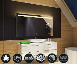 Illumination LED miroir sur mesure LED Horloge Miroir grossissant L12
